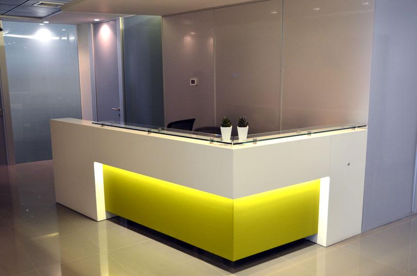 muebles para recepcion oficinas 7 baus asociados